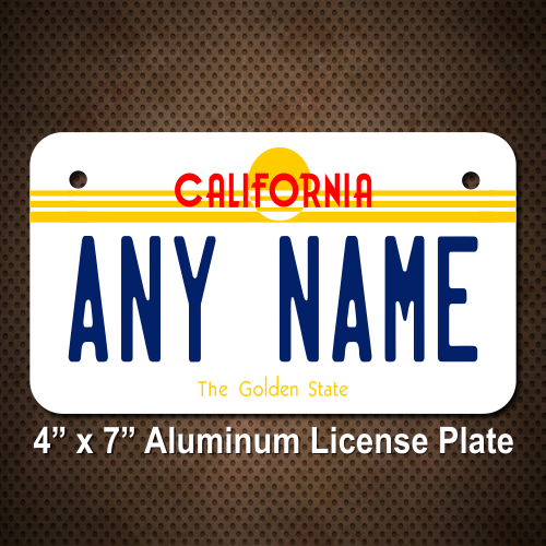 california state license plate for bikes, bicycles, atvs, cart