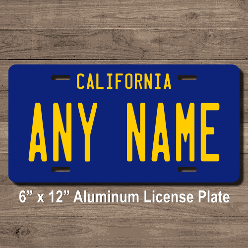 california replica state license plate for bikes, bicycles, atvs