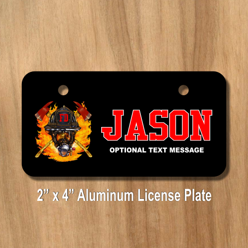 Fire Department License Plate for Bikes, Bicycles, ATVs, Cart ...