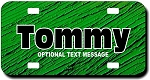 Green Textured Background Plate for Bikes, Bicycles, ATVs, Cart, Walkers, Motorcycles, Wagons and Vehicles