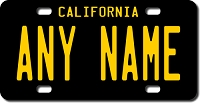 California License Plate for Bikes, Bicycles, ATVs, Cart, Walkers, Motorcycles, Wagons and Vehicles Version 4