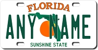 Florida License Plate for Bikes, Bicycles, ATVs, Cart, Walkers, Motorcycles, Wagons and Vehicles