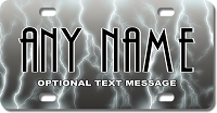 Grey Lightening Background Plate for Bikes, Bicycles, ATVs, Cart, Walkers, Motorcycles, Wagons and Vehicles