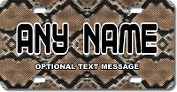 Snake Skin Background Plate for Bikes, Bicycles, ATVs, Cart, Walkers, Motorcycles, Wagons and Vehicles
