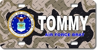 Air Force License Plate for Bikes, Bicycles, ATVs, Cart, Walkers, Motorcycles, Wagons and Vehicles