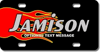 Red and Yellow Flame Background Plate for Bikes, Bicycles, ATVs, Cart, Walkers, Motorcycles, Wagons and Vehicles