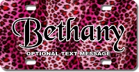 Pink Cheetah Skin Background Plate for Bikes, Bicycles, ATVs, Cart, Walkers, Motorcycles, Wagons and Vehicles