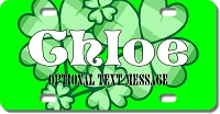 Shamrock Background Plate for Bikes, Bicycles, ATVs, Cart, Walkers, Motorcycles, Wagons and Vehicles