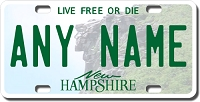 New Hampshire License Plate for Bikes, Bicycles, ATVs, Cart, Walkers, Motorcycles, Wagons and Vehicles