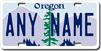 Oregon License Plate for Bikes, Bicycles, ATVs, Cart, Walkers, Motorcycles, Wagons and Vehicles