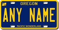 Oregon License Plate for Bikes, Bicycles, ATVs, Cart, Walkers, Motorcycles, Wagons and Vehicles  Version 2