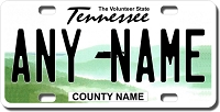 Tennessee License Plate for Bikes, Bicycles, ATVs, Cart, Walkers, Motorcycles, Wagons and Vehicles Version 2