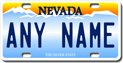 Nevada License Plate for Bikes, Bicycles, ATVs, Cart, Walkers, Motorcycles, Wagons and Vehicles
