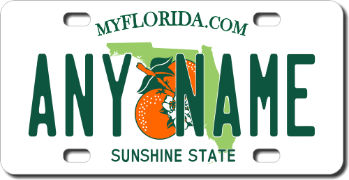 Florida Personalized License Plates >> Florida Replica State License Plate For Bikes Bicycles Atvs Cart Walkers Motorcycles Wagons And Vehicles Version 2