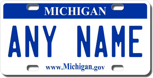 Michigan License Plate for Bikes, Bicycles, ATVs, Cart, Walkers, Motorcycles, Wagons and Vehicles