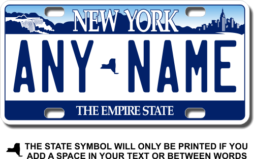 License Plates Personalized Custom New York State License Plate Any Name Novelty Auto Car Tag Parts & Accessories