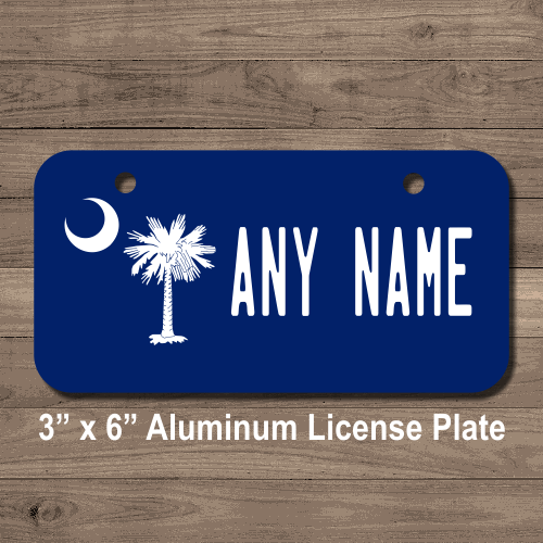South Carolina State Flag License Plate For Bikes Bicycles Atvs