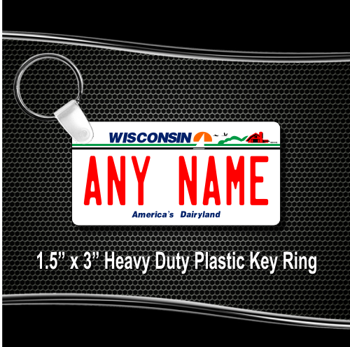 Wisconsin License Plate for Bikes, Bicycles, ATVs, Cart, Walkers,  Motorcycles, Wagons and Vehicles