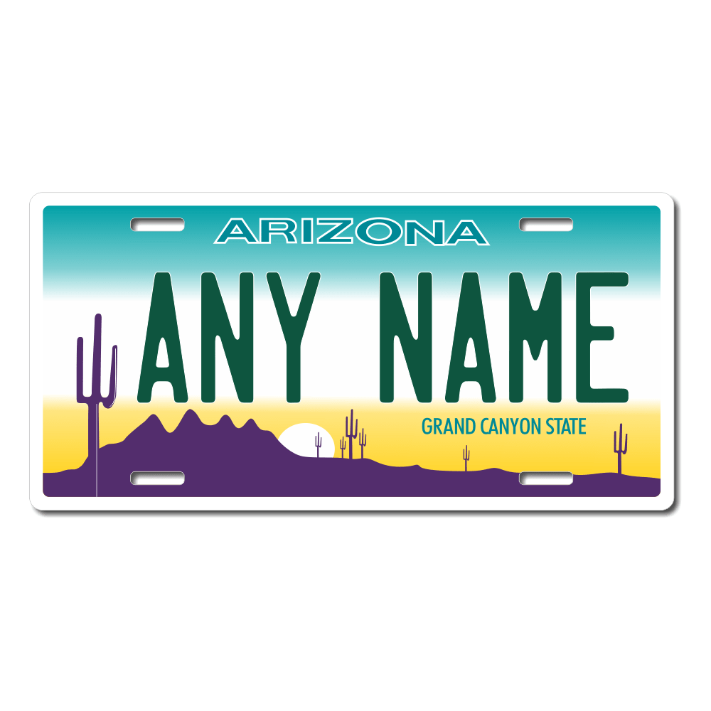 Arizona License Plate for Bikes, Bicycles, ATVs, Cart, Walkers, Motorcycles, Wagons and Vehicles