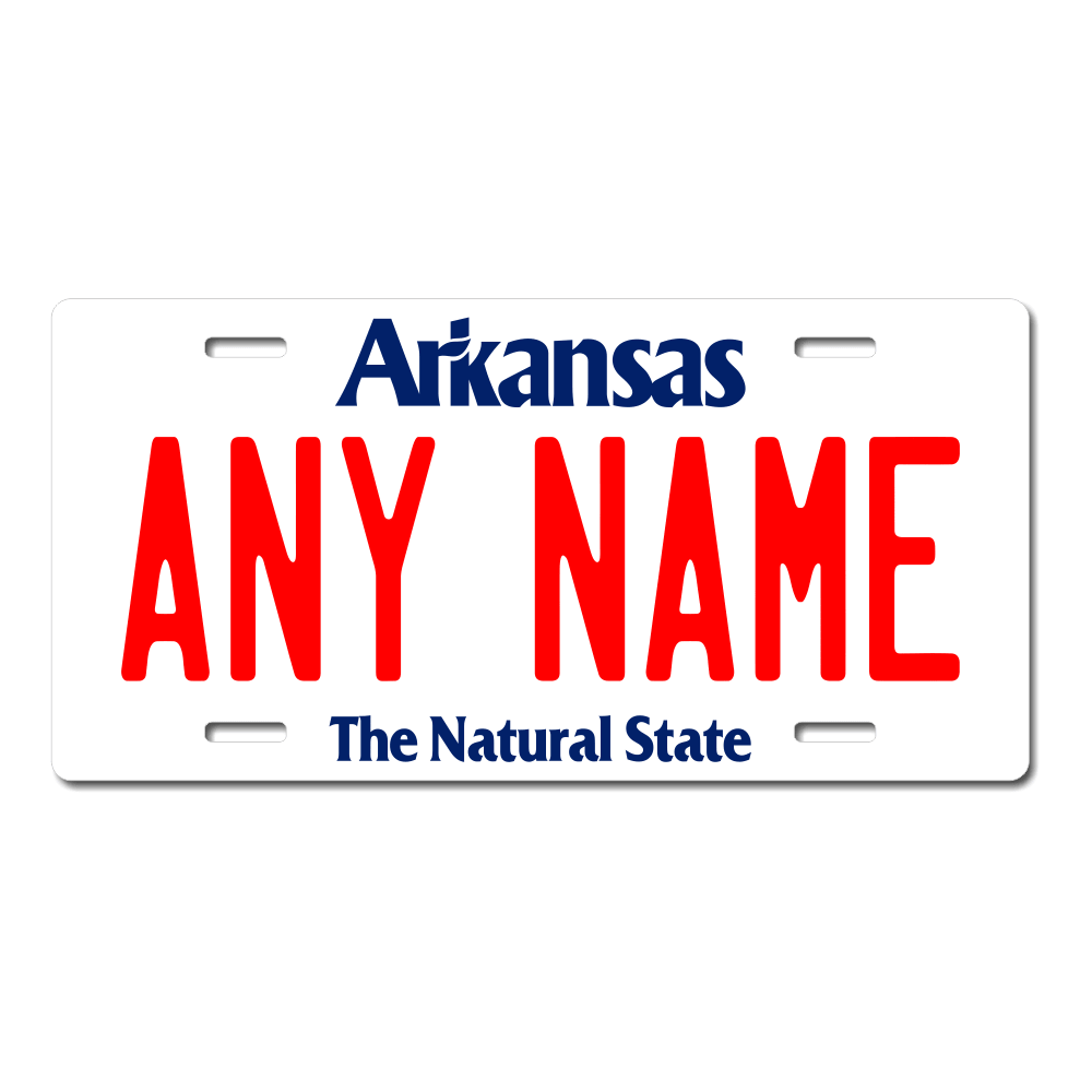 Arkansas License Plate for Bikes, Bicycles, ATVs, Cart, Walkers, Motorcycles, Wagons and Vehicles Version 1