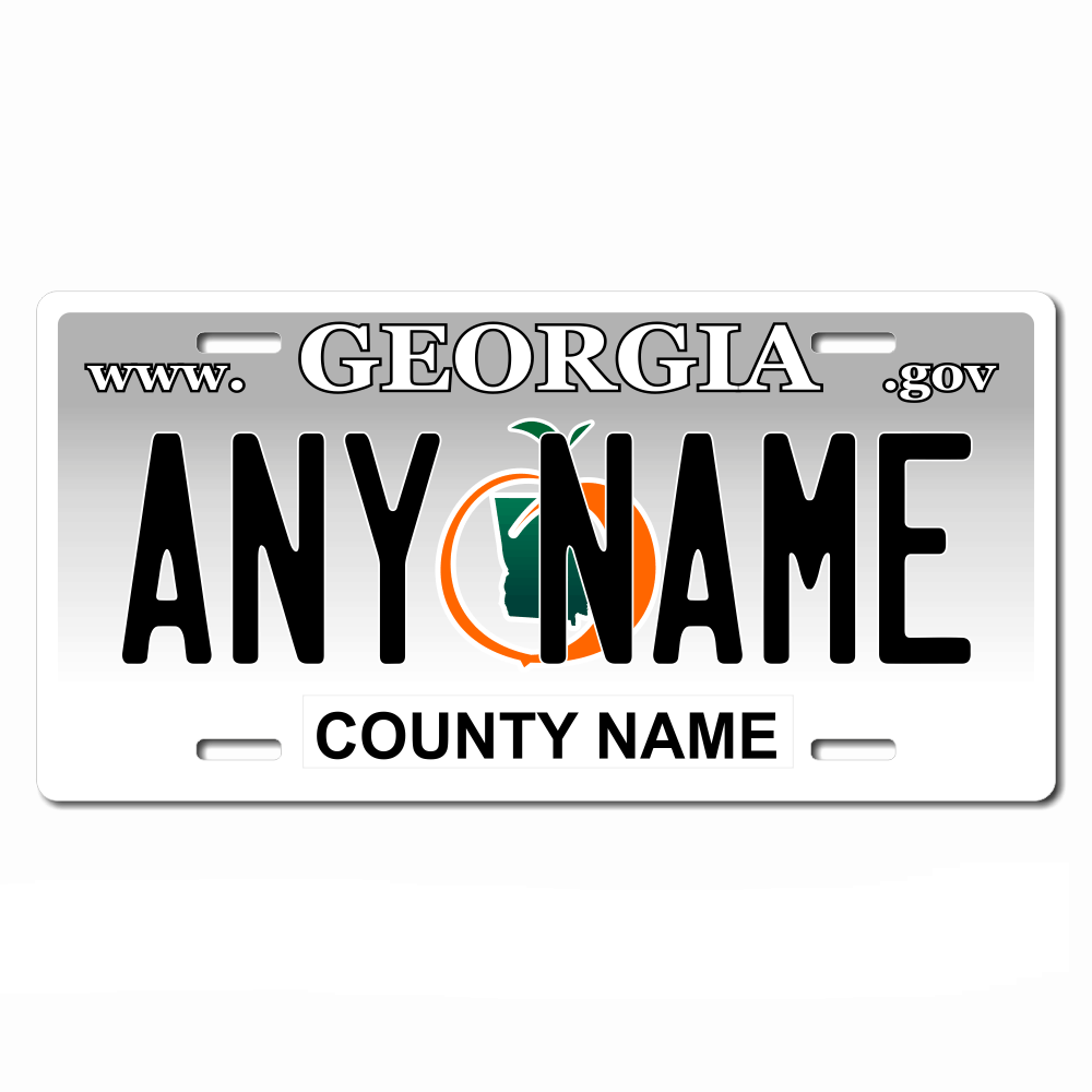 Georgia License Plate for Bikes, Bicycles, ATVs, Cart, Walkers, Motorcycles, Wagons and Vehicles Version 1