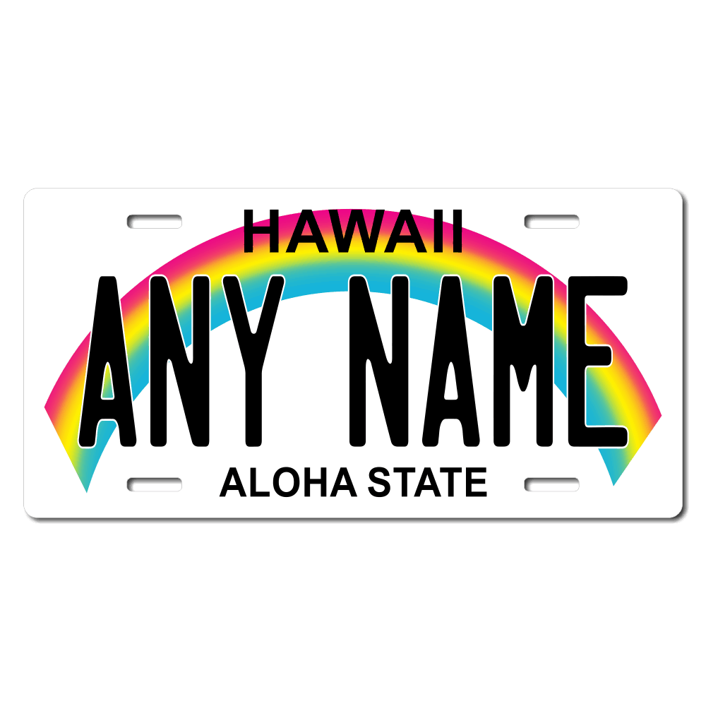 Hawaii License Plate for Bikes, Bicycles, ATVs, Cart, Walkers, Motorcycles, Wagons and Vehicles Version 1