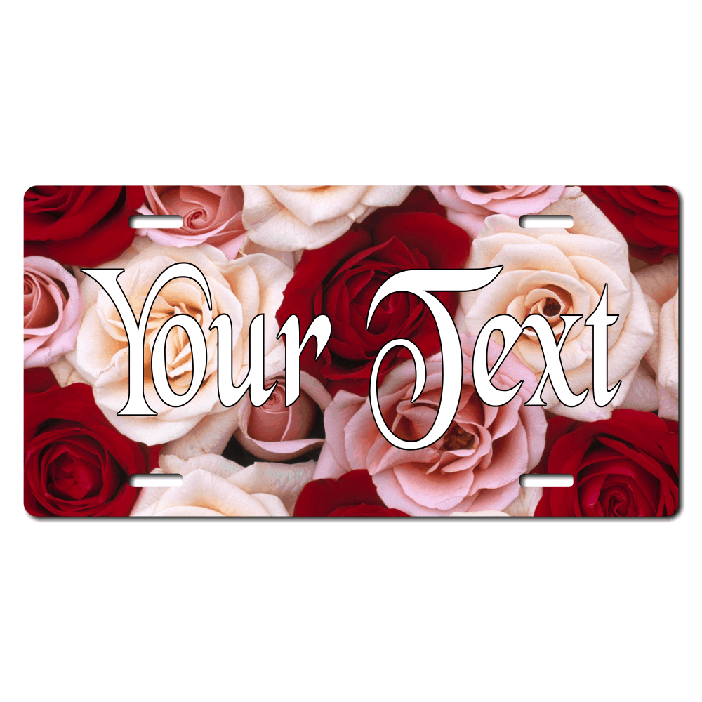 Rose Background Plate for Bikes, Bicycles, ATVs, Cart, Walkers, Motorcycles, Wagons and Vehicles