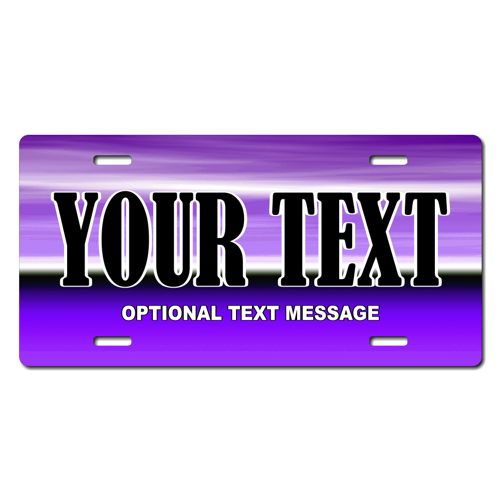 Purple Background Plate for Bikes, Bicycles, ATVs, Cart, Walkers, Motorcycles, Wagons and Vehicles