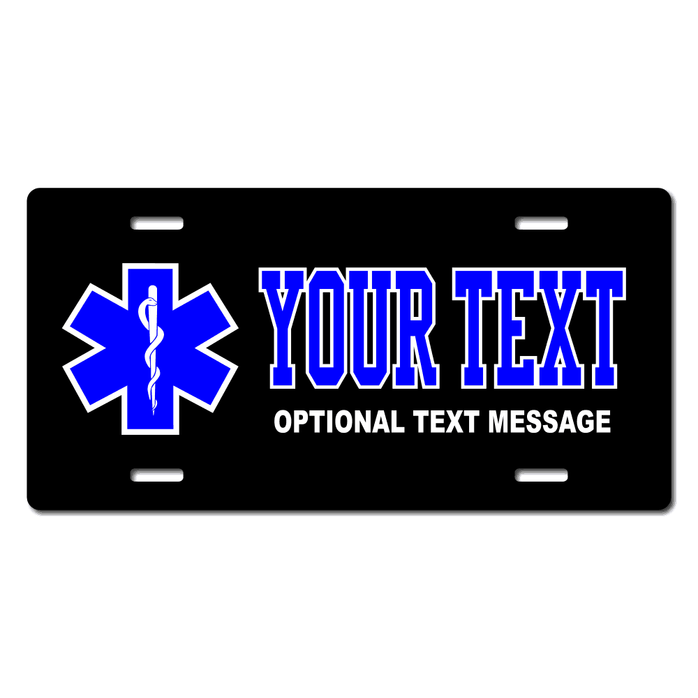 EMS Paramedic Rescue License Plate for Bikes, Bicycles, ATVs, Cart, Walkers, Motorcycles, Wagons and Vehicles
