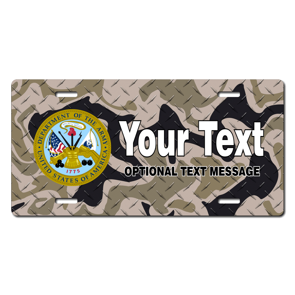 US Army License Plate for Bikes, Bicycles, ATVs, Cart, Walkers, Motorcycles, Wagons and Vehicles