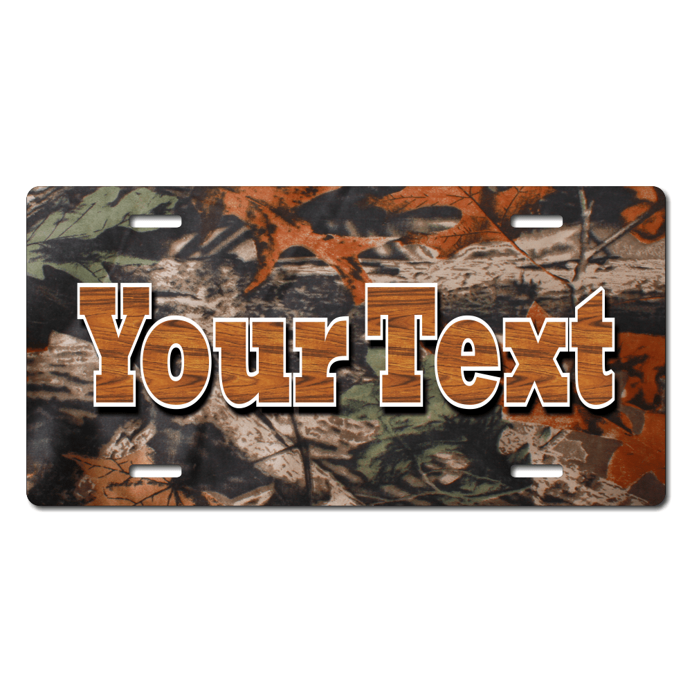 Leaf Camo Background Plate for Bikes, Bicycles, ATVs, Cart, Walkers, Motorcycles, Wagons and Vehicles