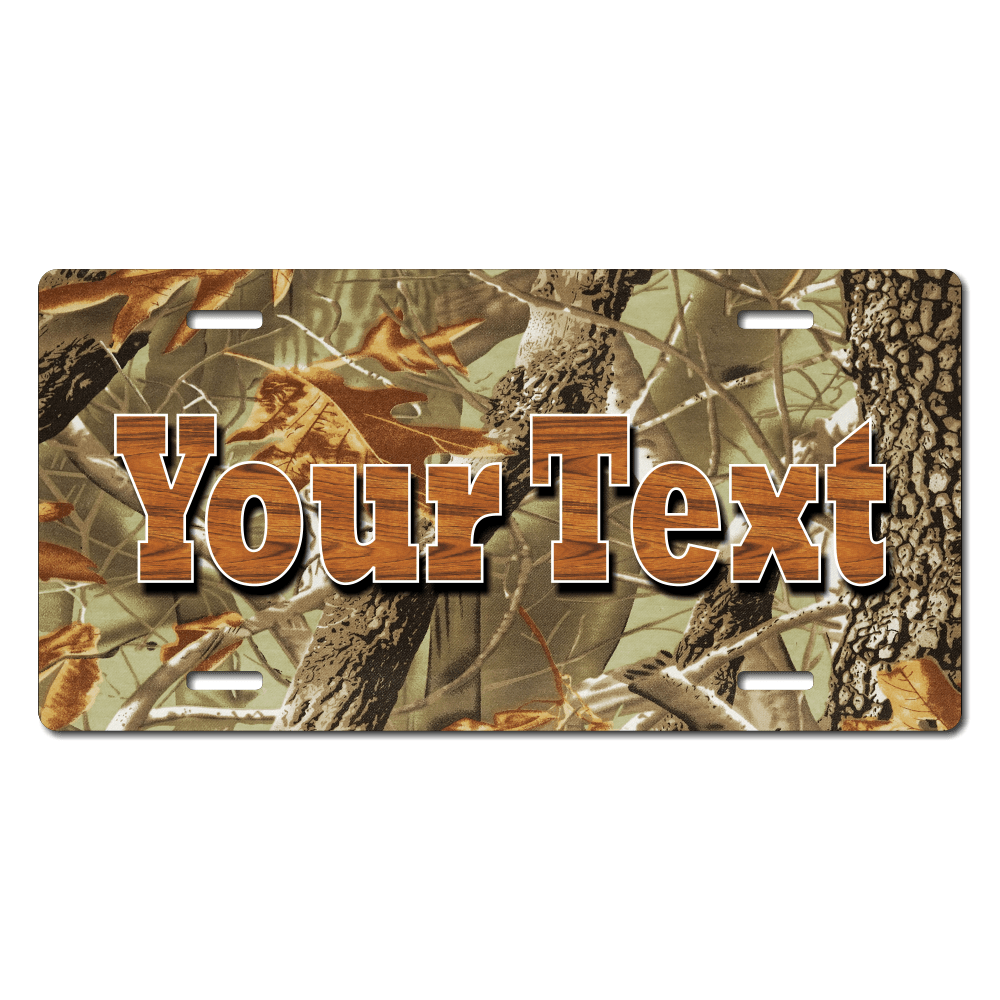 Leaf / Tree Camo Background Plate for Bikes, Bicycles, ATVs, Cart, Walkers, Motorcycles, Wagons and Vehicles