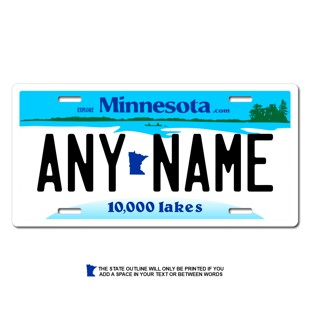 Minnesota License Plate for Bikes, Bicycles, ATVs, Cart, Walkers, Motorcycles, Wagons and Vehicles Version 1