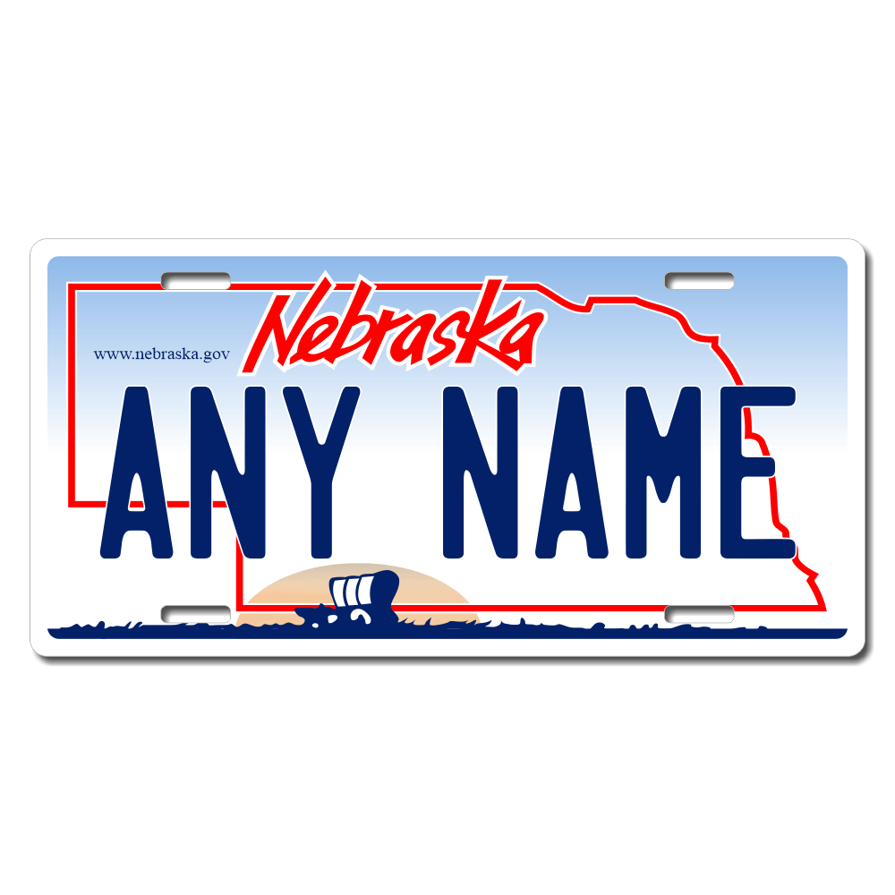 Nebraska License Plate for Bikes, Bicycles, ATVs, Cart, Walkers, Motorcycles, Wagons and Vehicles  Version 1