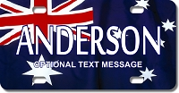 Australian Flag Plate for Bikes, Bicycles, ATVs, Cart, Walkers, Motorcycles, Wagons and Vehicles