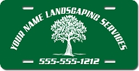 Professional Landscapers Personalized License Plate