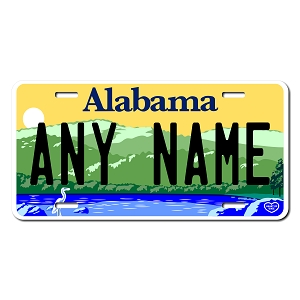 Alabama License Plate for Bikes, Bicycles, ATVs, Cart, Walkers, Motorcycles, Wagons and Vehicles Version 3