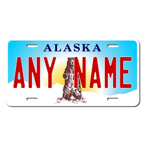 Alaska License Plate for Bikes, Bicycles, ATVs, Cart, Walkers, Motorcycles, Wagons and Vehicles Version 3