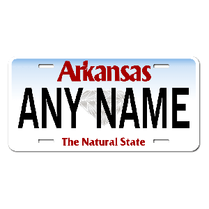 Arkansas License Plate for Bikes, Bicycles, ATVs, Cart, Walkers, Motorcycles, Wagons and Vehicles  Version 3