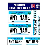 Personalized Minnesota License Plate Decals - Stickers