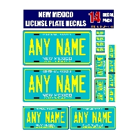 Personalized New Mexico License Plate Decals - Stickers Version 3