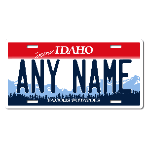 Idaho License Plate for Bikes, Bicycles, ATVs, Cart, Walkers, Motorcycles, Wagons and Vehicles Version 1