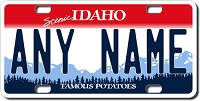 Idaho License Plate for Bikes, Bicycles, ATVs, Cart, Walkers, Motorcycles, Wagons and Vehicles