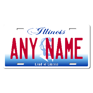 Illinois License Plate for Bikes, Bicycles, ATVs, Cart, Walkers, Motorcycles, Wagons and Vehicles Version 2