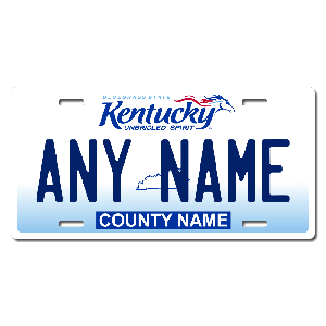 Kentucky License Plate for Bikes, Bicycles, ATVs, Cart, Walkers, Motorcycles, Wagons and Vehicles  Version 2