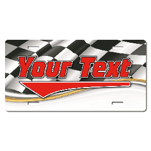 Racing Flag Background Plate for Bikes, Bicycles, ATVs, Cart, Walkers, Motorcycles, Wagons and Vehicles