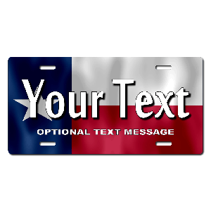 Texas Flag Background Plate for Bikes, Bicycles, ATVs, Cart, Walkers, Motorcycles, Wagons and Vehicles