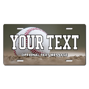 Baseball Background Plate for Bikes, Bicycles, ATVs, Cart, Walkers, Motorcycles, Wagons and Vehicles