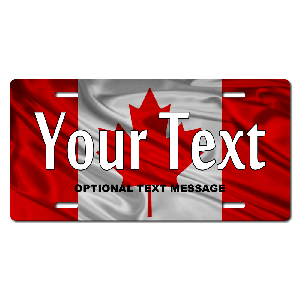 Canada Flag Plate for Bikes, Bicycles, ATVs, Cart, Walkers, Motorcycles, Wagons and Vehicles