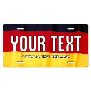 Germany Flag Plate for Bikes, Bicycles, ATVs, Cart, Walkers, Motorcycles, Wagons and Vehicles
